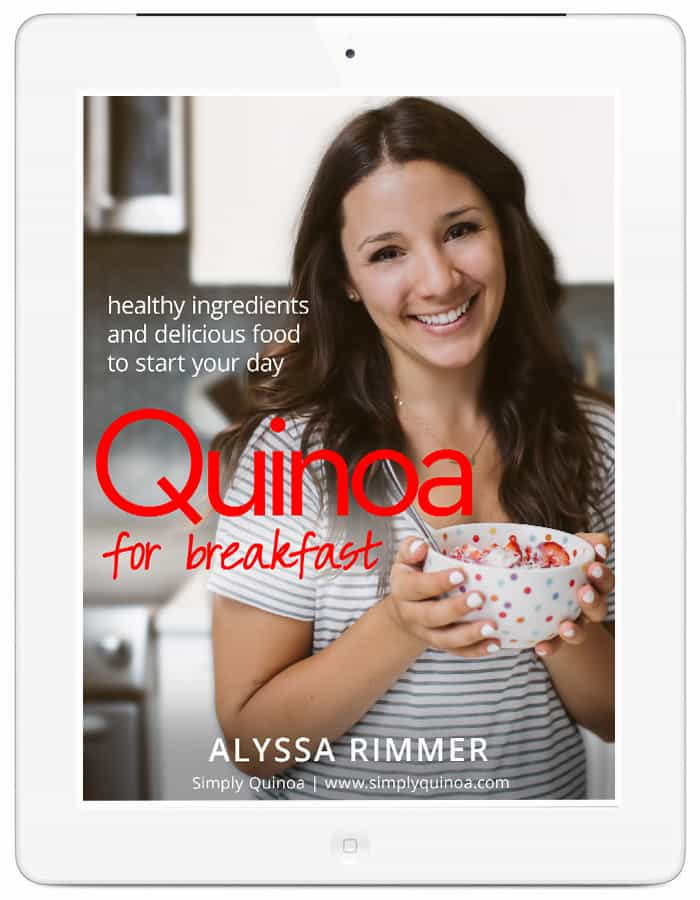 Quinoa for Breakfast - the latest cookbook from Alyssa Rimmer of simplyquinoa.com