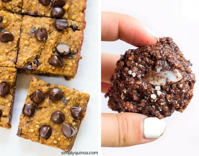 Healthy quinoa dessert recipes from simplyquinoa.com