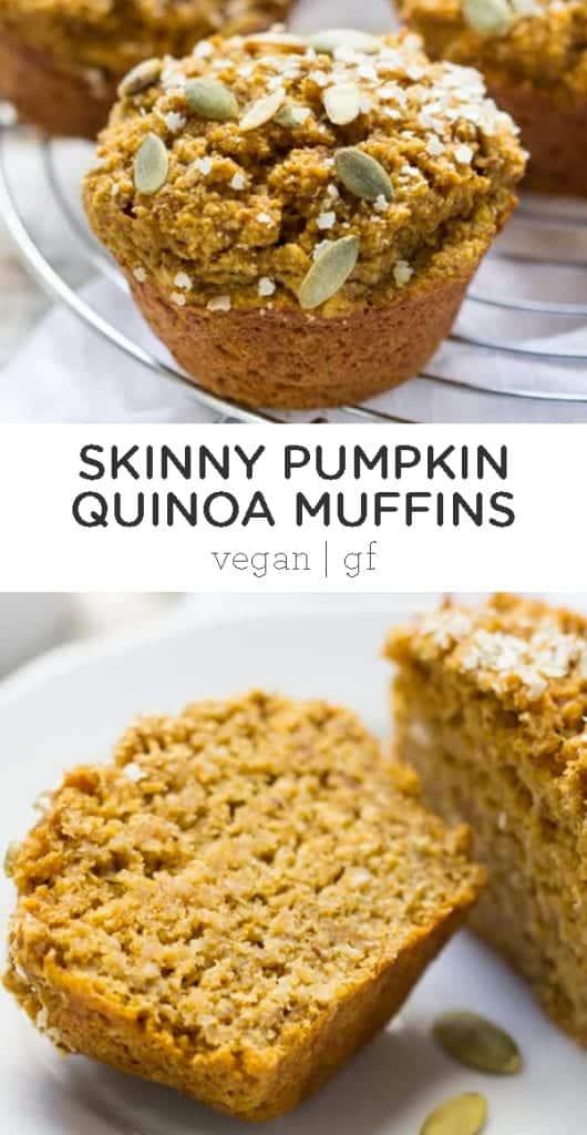 skinny pumpkin quinoa muffins