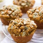 Skinny Pumpkin Quinoa Muffins - sweetened naturally, gluten-free + vegan | recipe on simplyquinoa.com