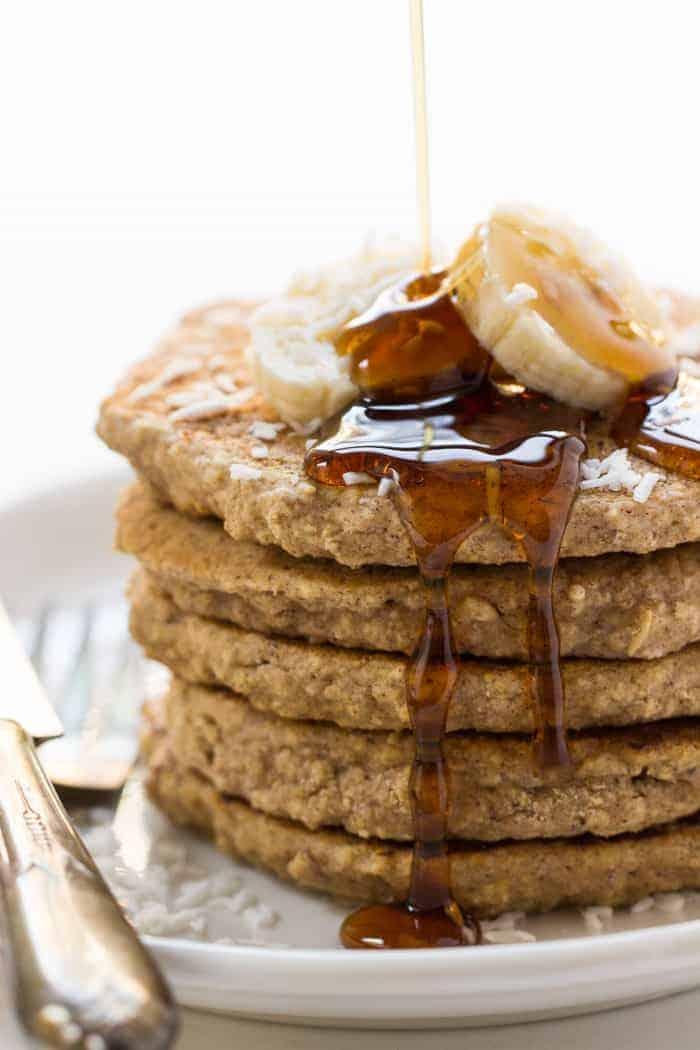 Vegan Cinnamon Oatmeal Quinoa Pancakes | Wholesome Quinoa Recipes