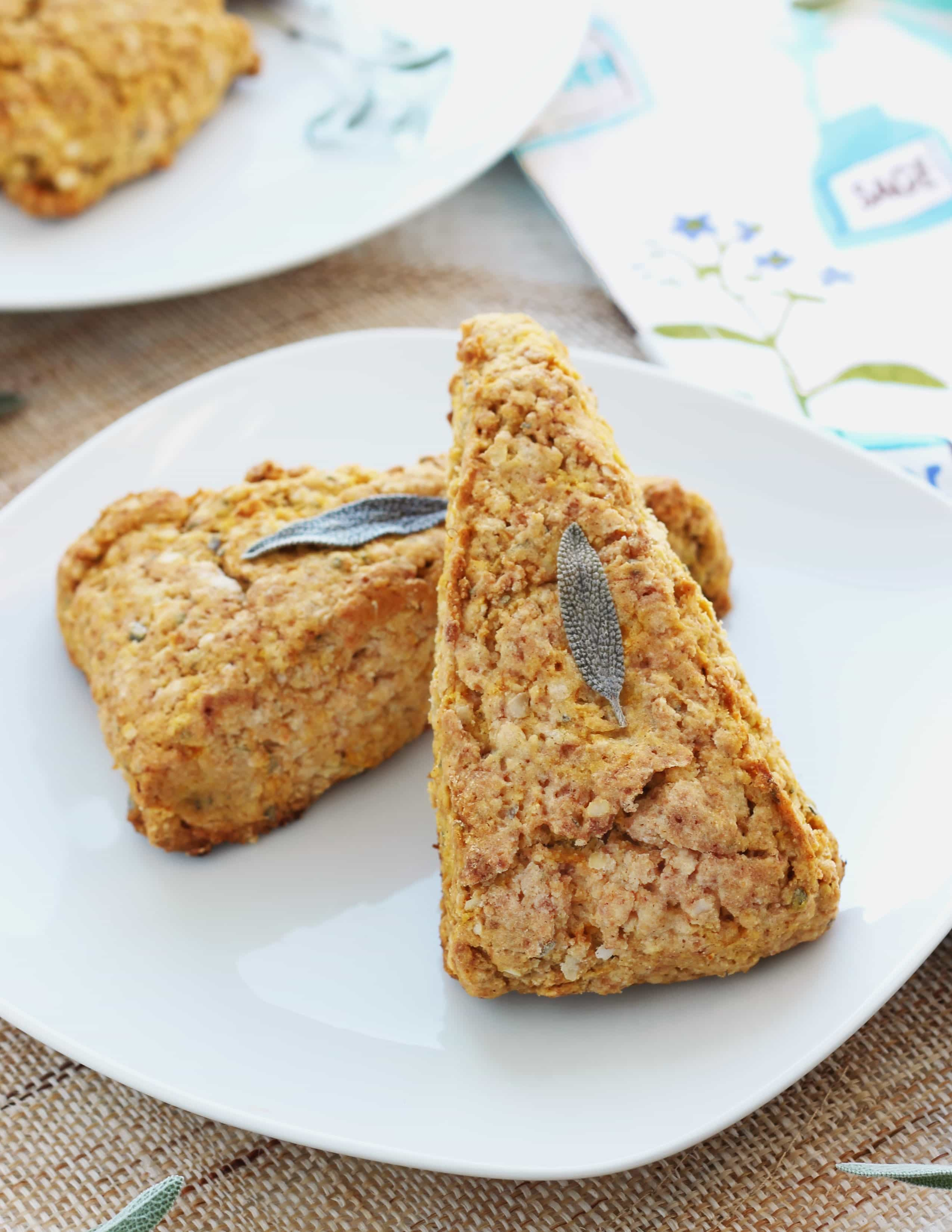 Butternut Squash + Sage Scones using quinoa flakes to make them extra light and fluffy {gluten-free}