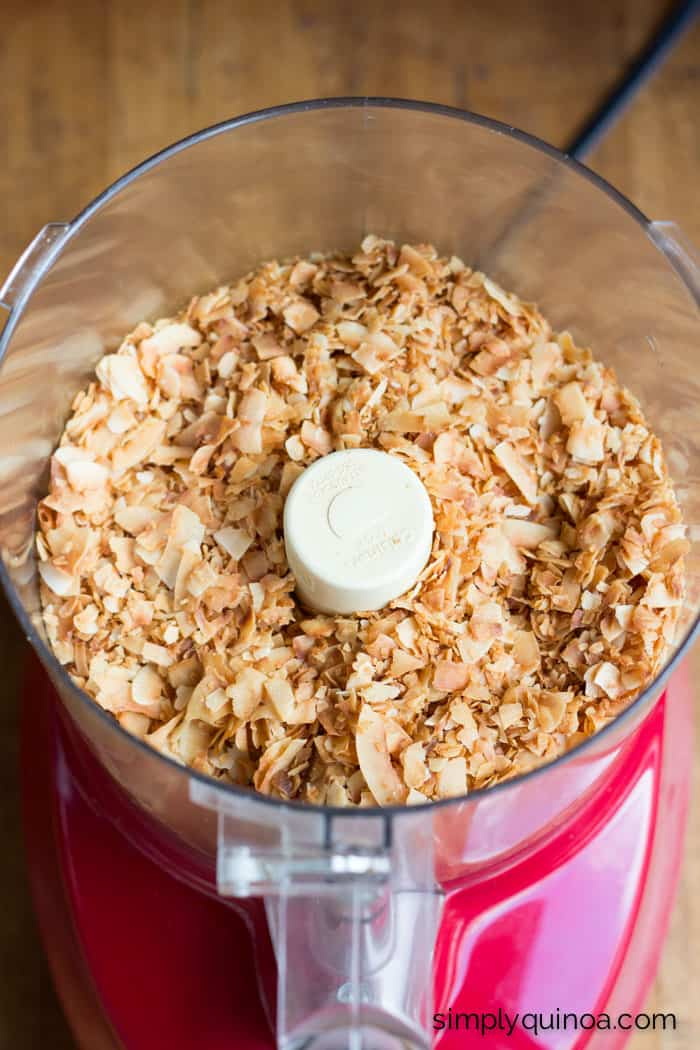 DIY toasted coconut butter. Only takes a few minutes to make and uses just 1 ingredient.