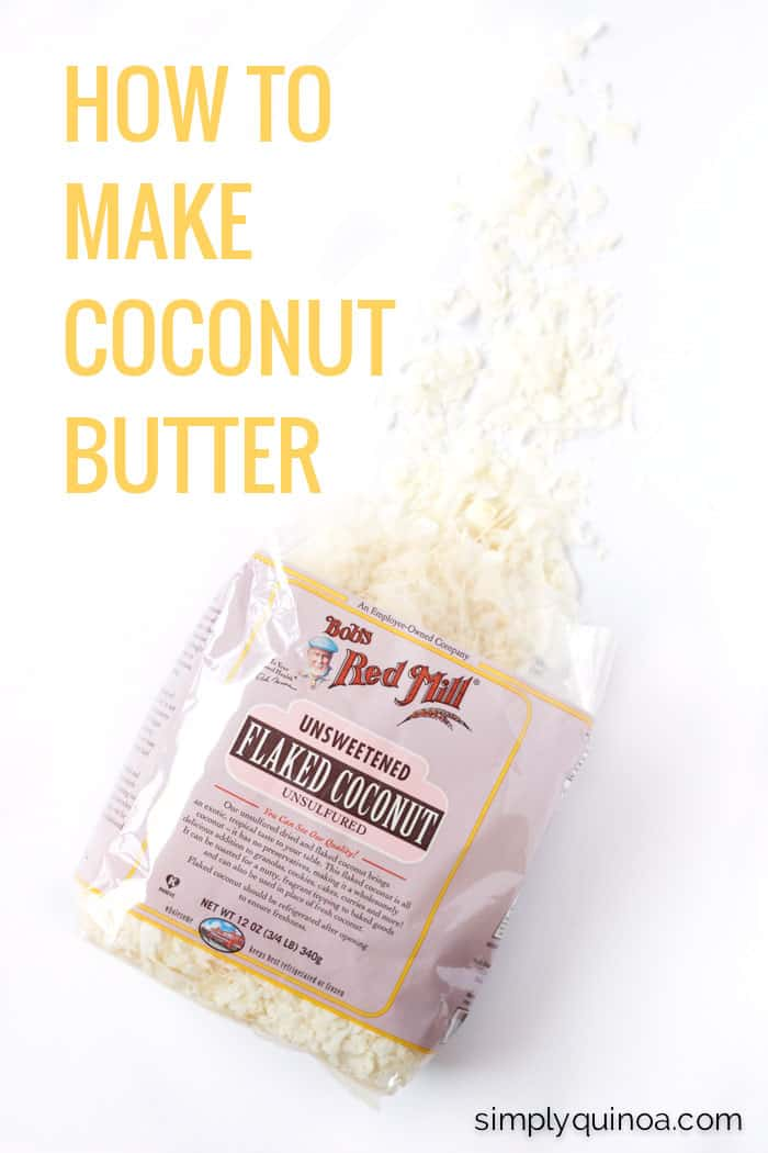 Learn how to make coconut butter using only one ingredient >> coconut flakes!