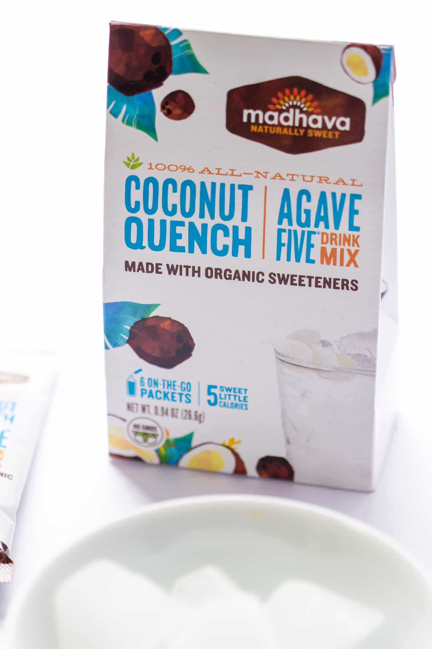 Coconut Quench Drink Mix makes the best coconut-flavored ice cubes for morning smoothies!