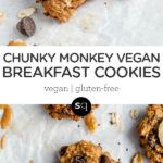 vegan breakfast cookies with peanut butter and banana