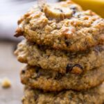 Chunky Monkey Quinoa Breakfast Cookies - with chocolate chips, chopped walnuts and dates! [gluten-free + vegan]