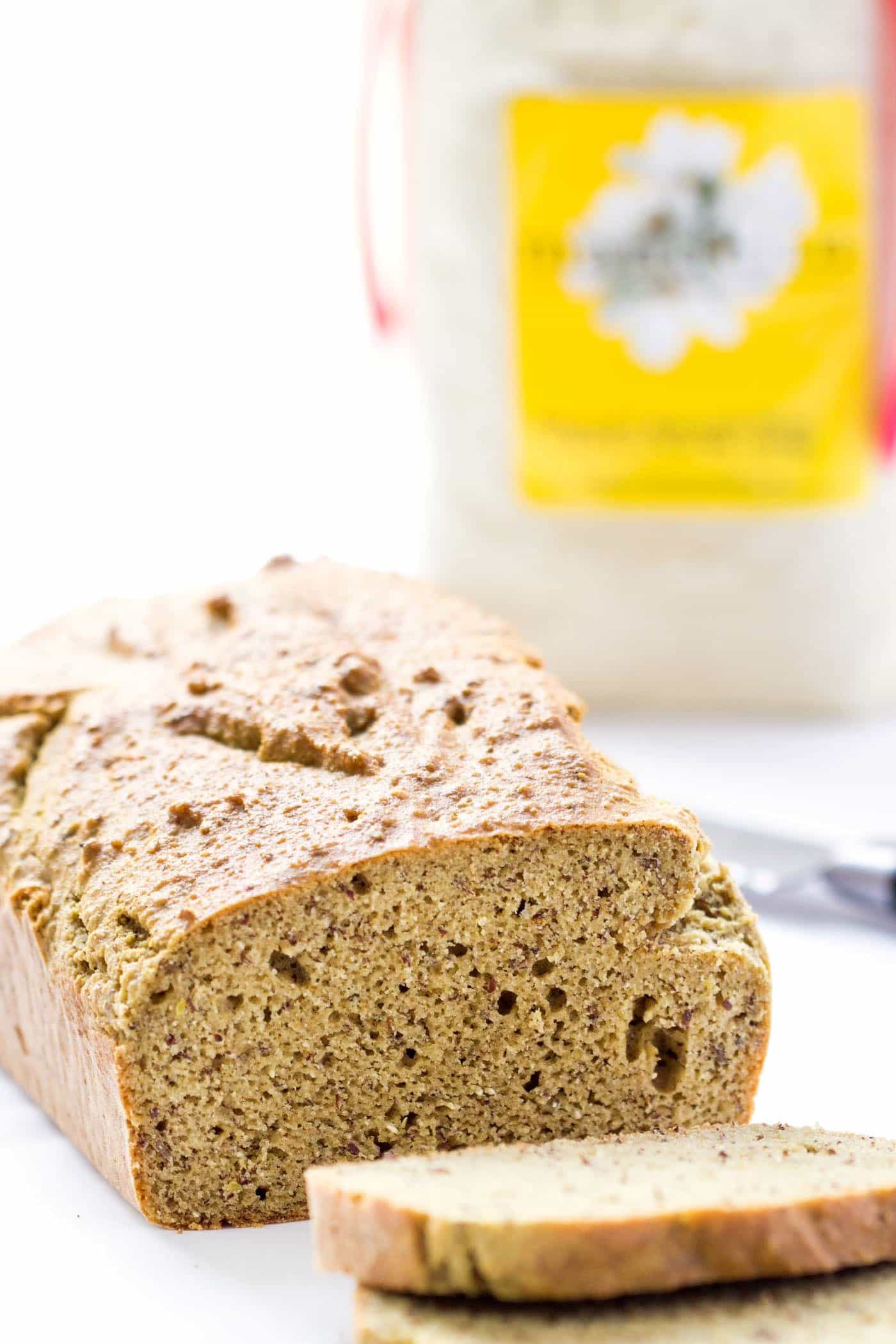 Quinoa Almond Flour Bread made with blanched almond flour, flaxseed meal and other gluten-free goodies