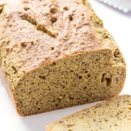The EASIEST gluten-free bread -- this quinoa almond flour bread uses no yeast, bakes in 30 minutes and tastes amazing!