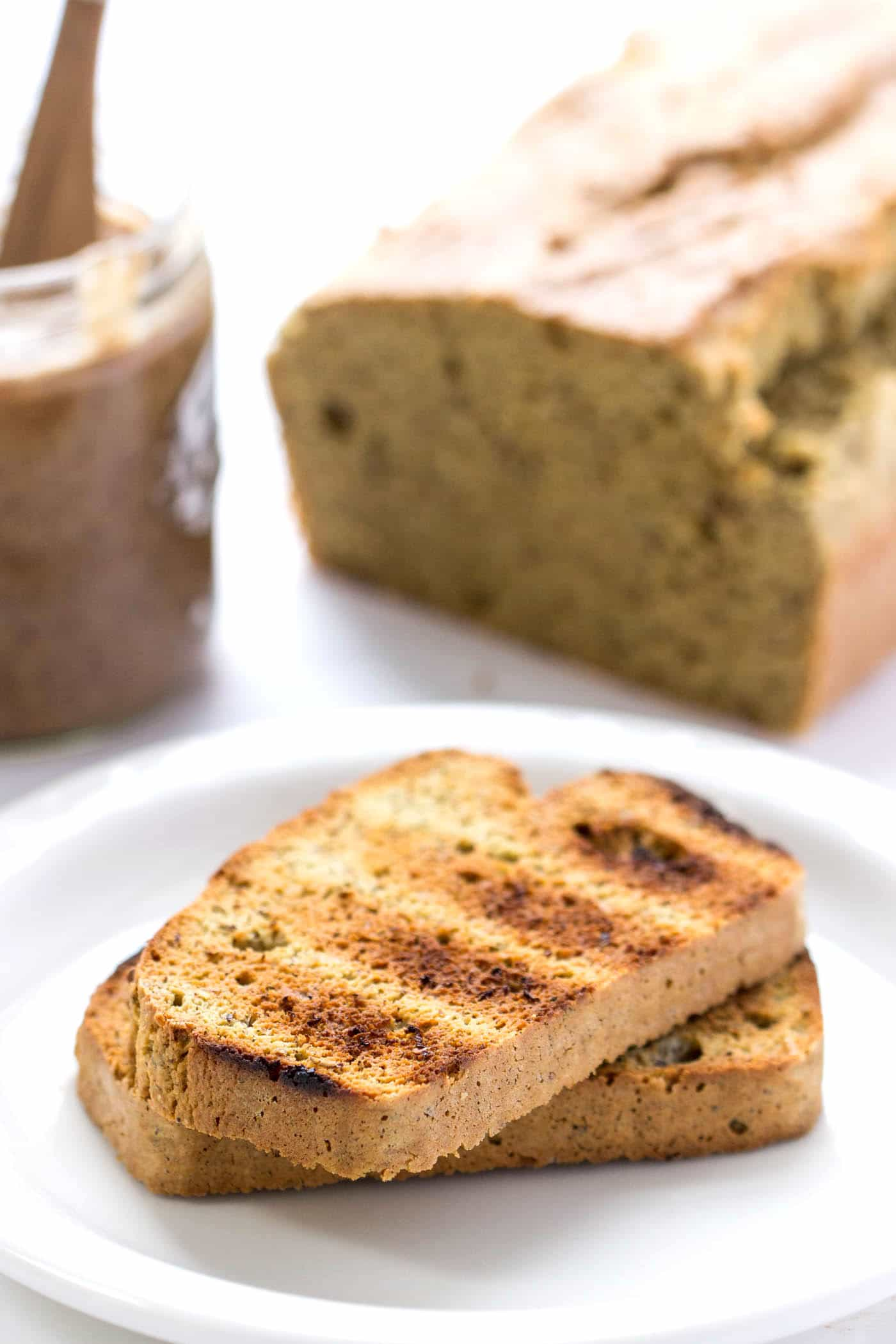This gluten-free almond flour bread is AMAZING! It uses quinoa, almonds and other healthy goodies and makes the best toast!