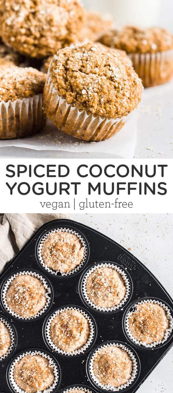 Spiced Coconut Yogurt Muffins