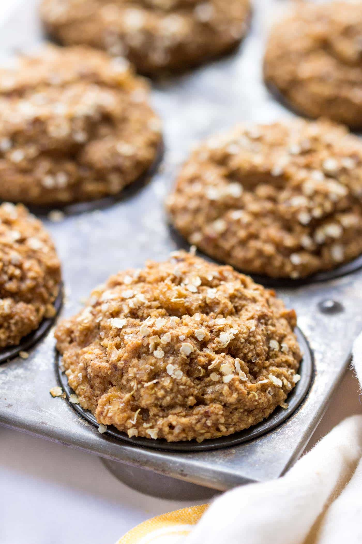 SPICED QUINOA MUFFINS with coconut yogurt, banana and oats -- no refined sugar, gluten-free AND vegan!