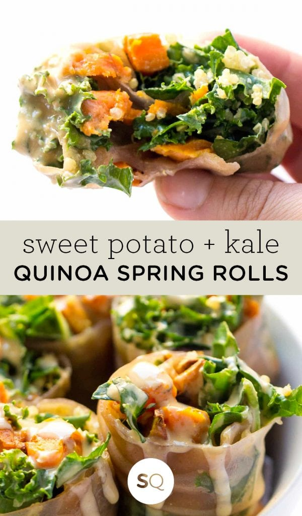 weet Potato, Kale and Quinoa Spring Rolls