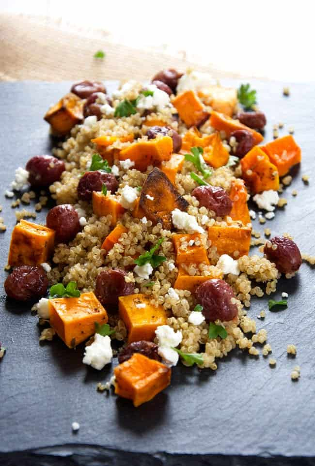 butternut squash quinoa salad for winter