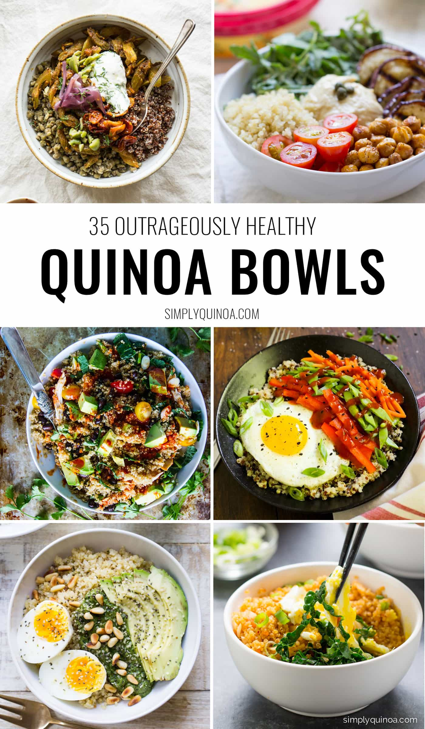 Bored with the same old quinoa recipe? Then you've got to try one of these OUTRAGEOUSLY delicious quinoa bowls! Packed with superfoods, easy to make and healthy too - there's a recipe for every type on this list.