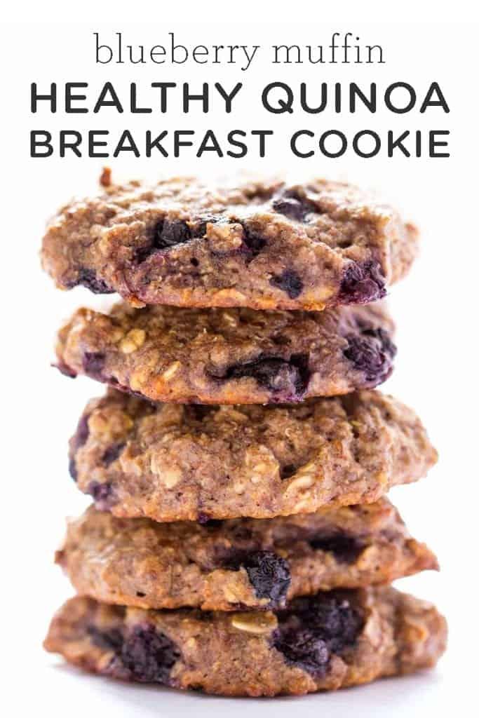 Blueberry Muffin Healthy Quinoa Breakfast Cookie