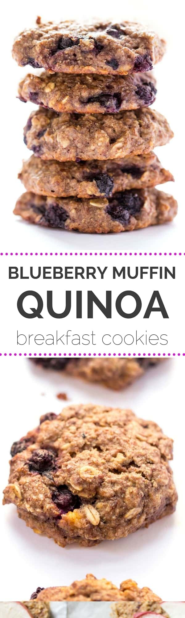 Blueberry Muffin Quinoa Breakfast Cookies Sweetened Naturally Without Any Dairy Or Eggs