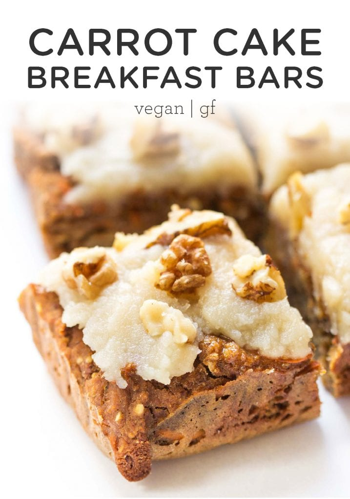 Vegan Carrot Cake Quinoa Breakfast Bars
