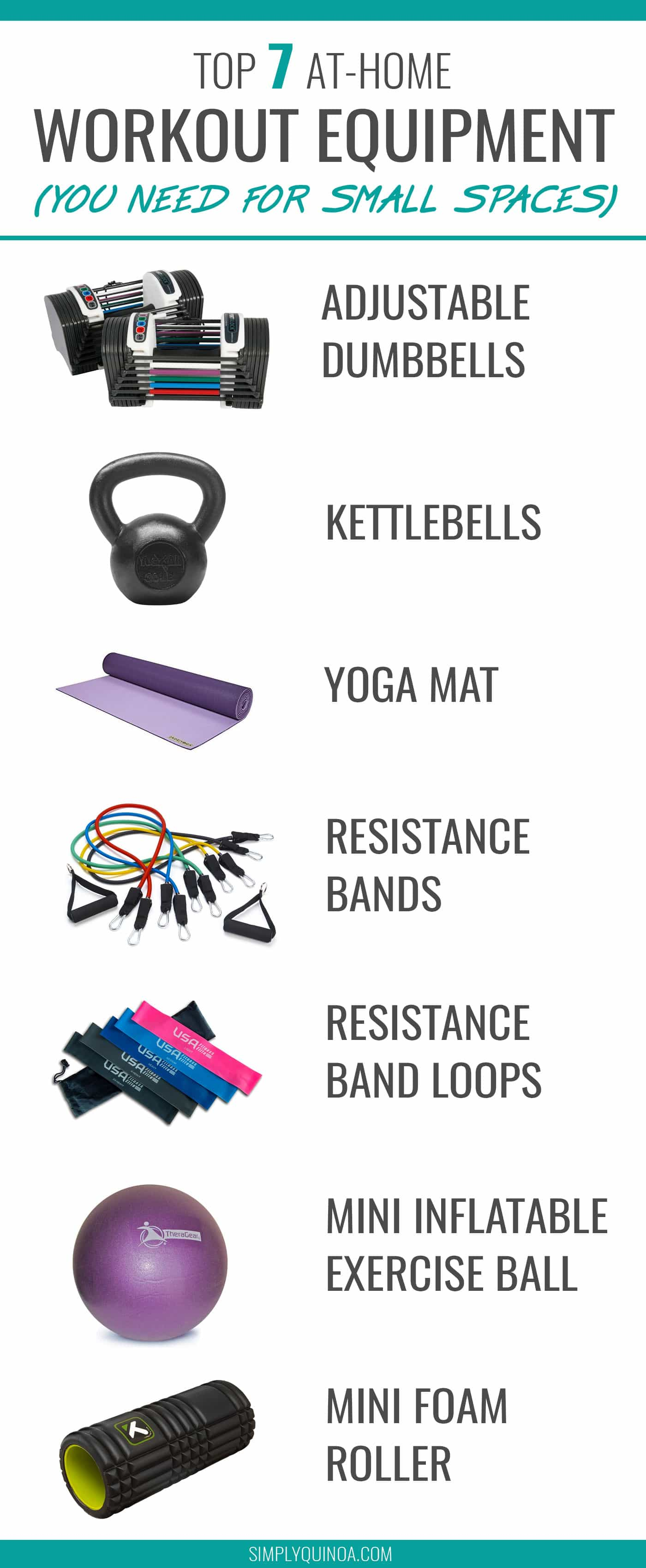 Best at home exercise equipment for small spaces