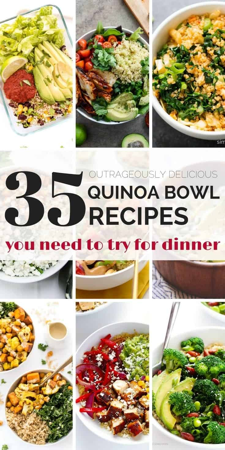 35 delicious quinoa bowl recipes to try for dinner