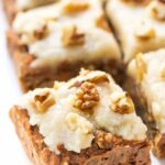 Vegan Carrot Cake Breakfast Bars with quinoa and hemp hearts for added protein!
