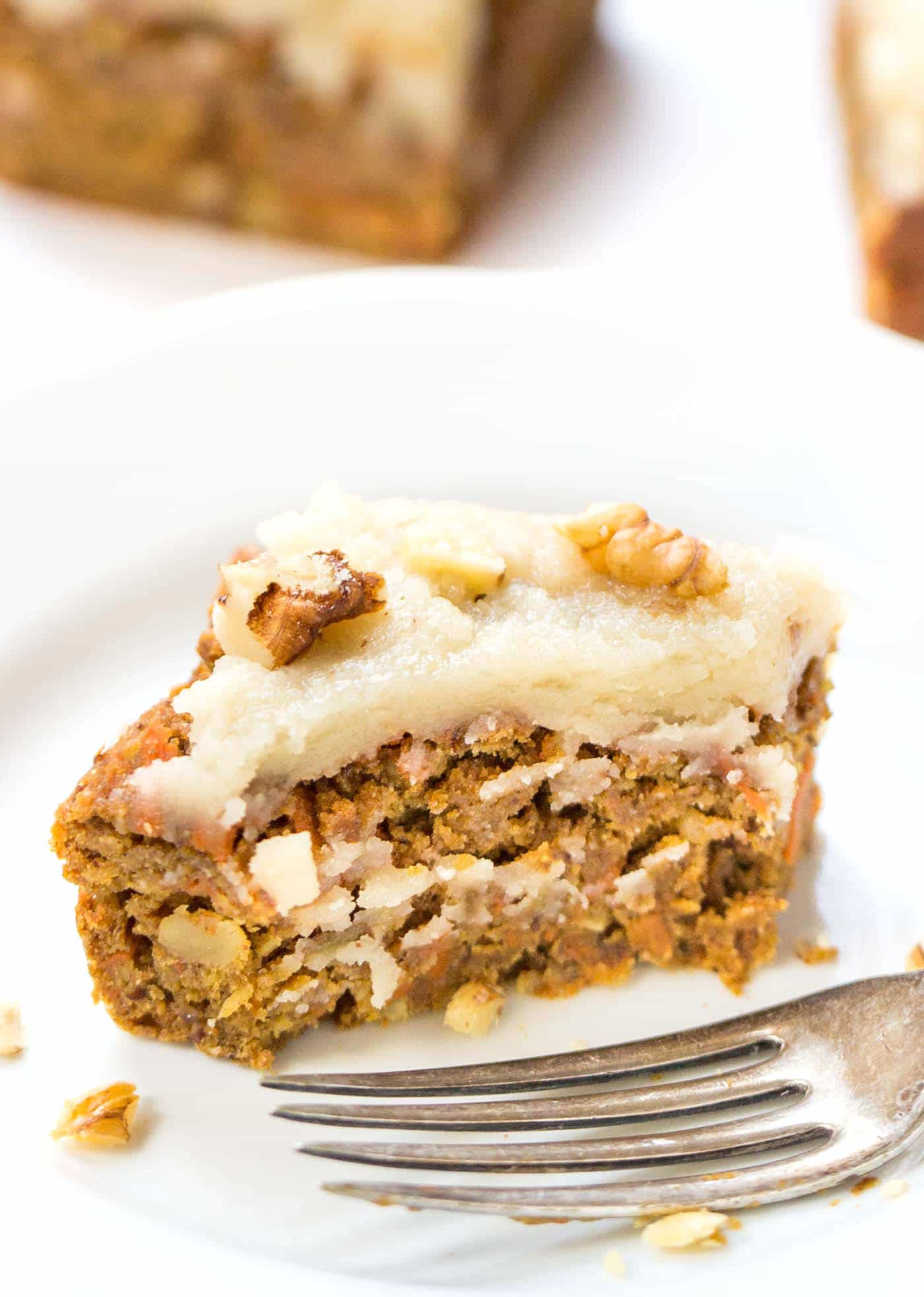 An absolutely EPIC vegan carrot cake recipe that uses chickpeas and quinoa....AND it's healthy enough for breakfast! {vegan + gluten-free}
