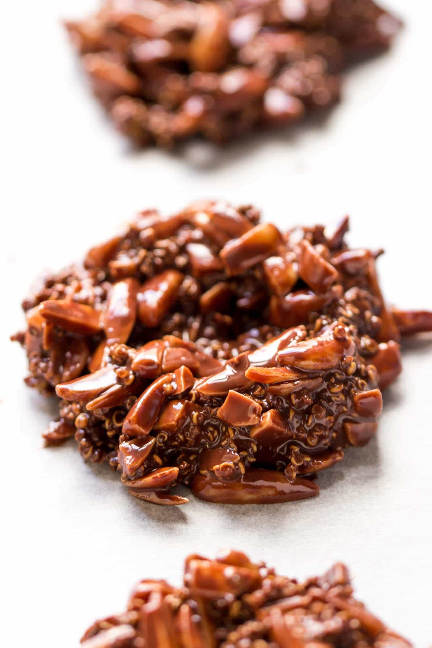Dark Chocolate Birds Nest Cookies...only 5 ingredients and TOTALLY healthy!