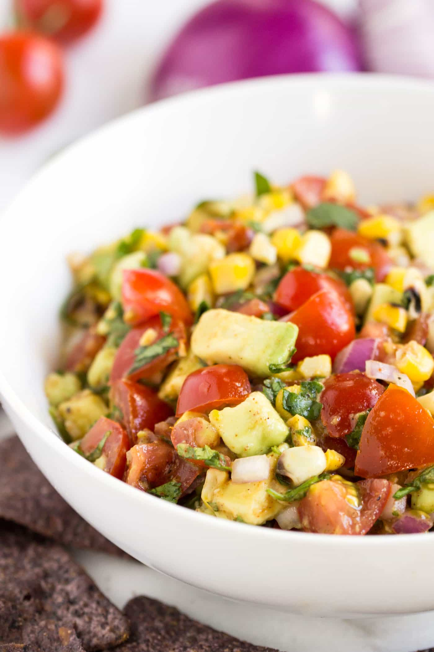 roasted corn and avocado salsa