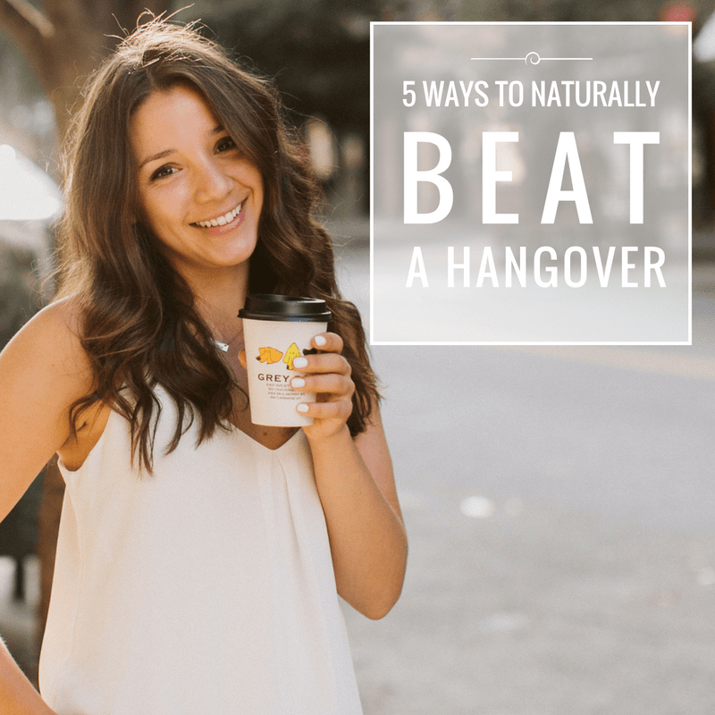 The 5 BEST and totally NATURAL ways to beat a hangover! Hint: they're easier than you might think!
