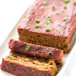 Vegan Lentil + Quinoa Meatloaf -- it might sound strange, but it's absolutely AMAZING! Even meat-lovers will love this loaf! {gluten-free}