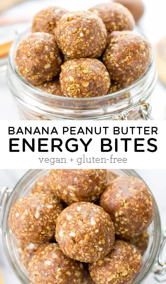 Banana Peanut Butter Energy Bites