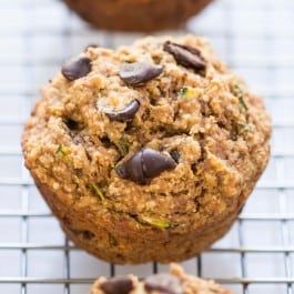 Chocolate Chip Zucchini Quinoa Muffins