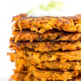Curried Carrot + Sweet Potato Fritters