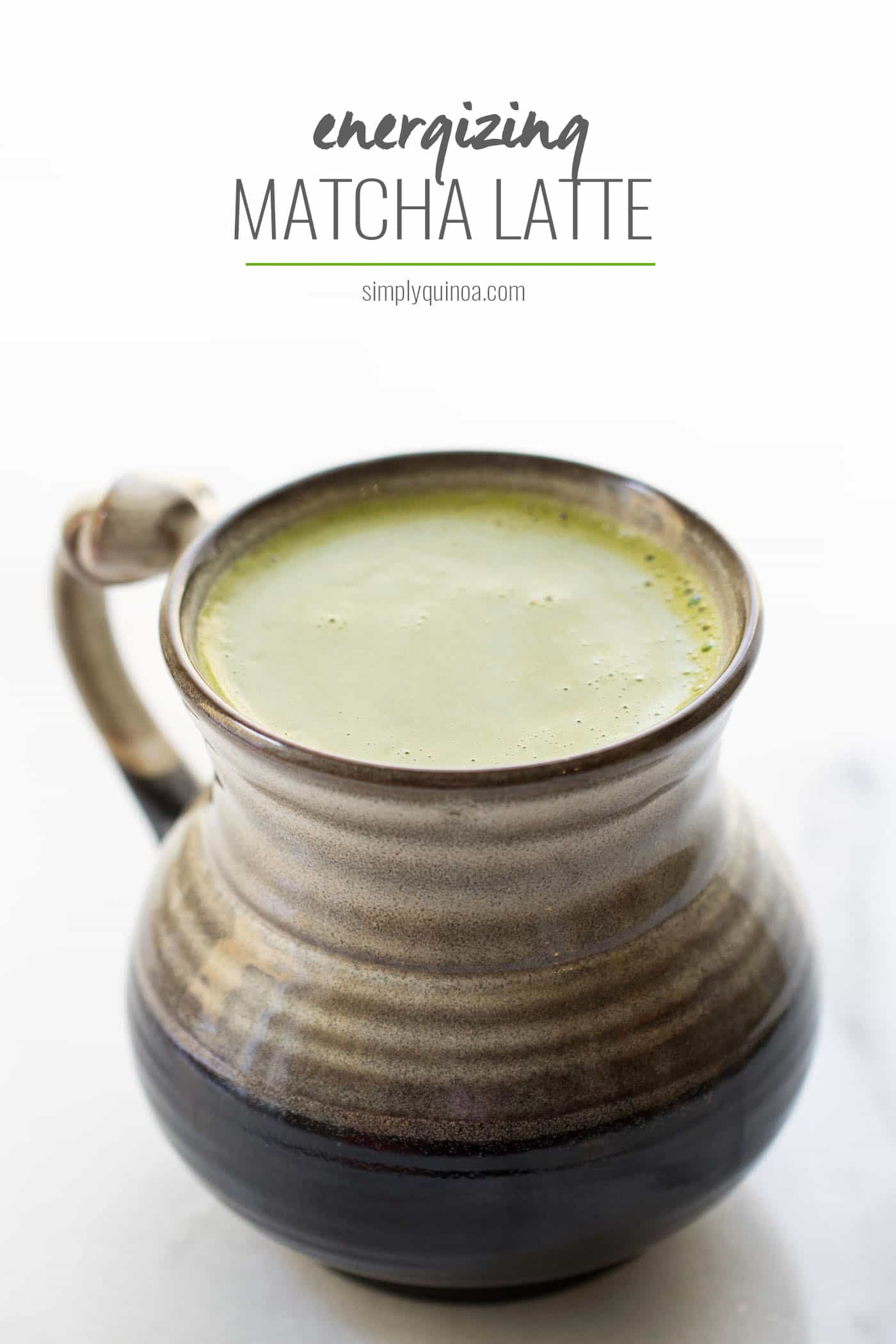 ENERGIZING MATCHA LATTE -- made in a blender with tons of brain-boosting ingredients!