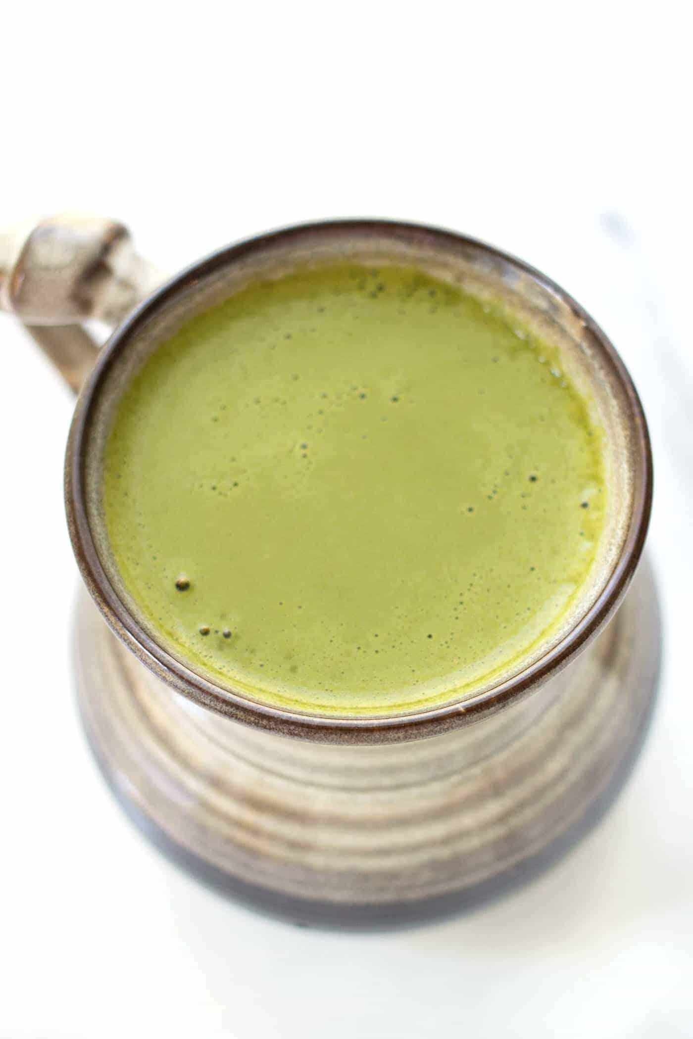 Energizing Matcha Latte -- packed with brain boosting ingredients to fuel your morning and kickstart your day!