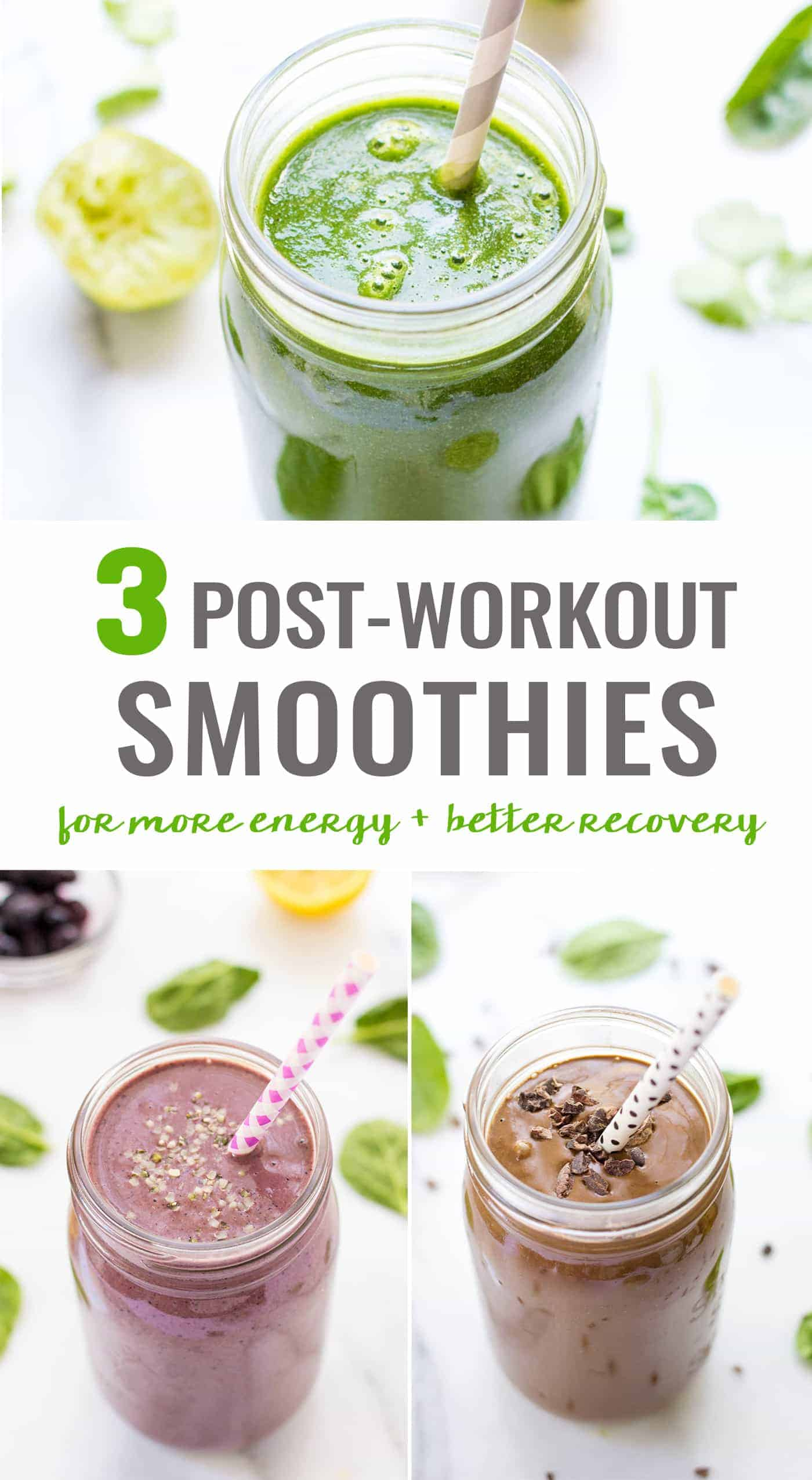 The 3 BEST post-workout smoothies to get more energy and recover more quickly