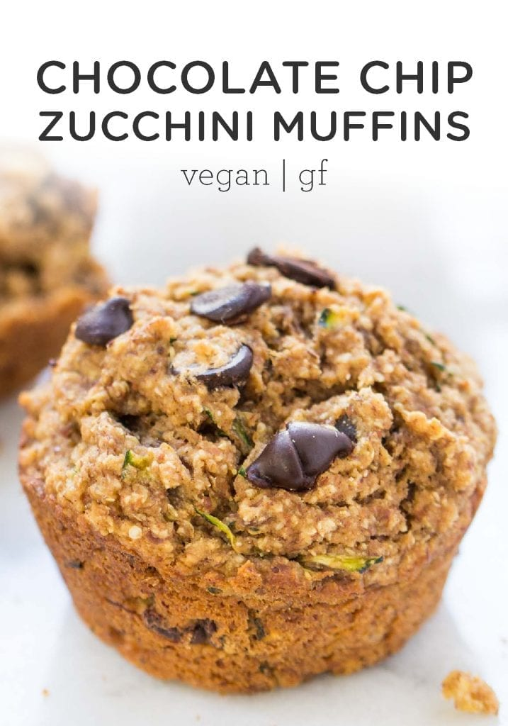 Zucchini Chocolate Chip Quinoa Muffins
