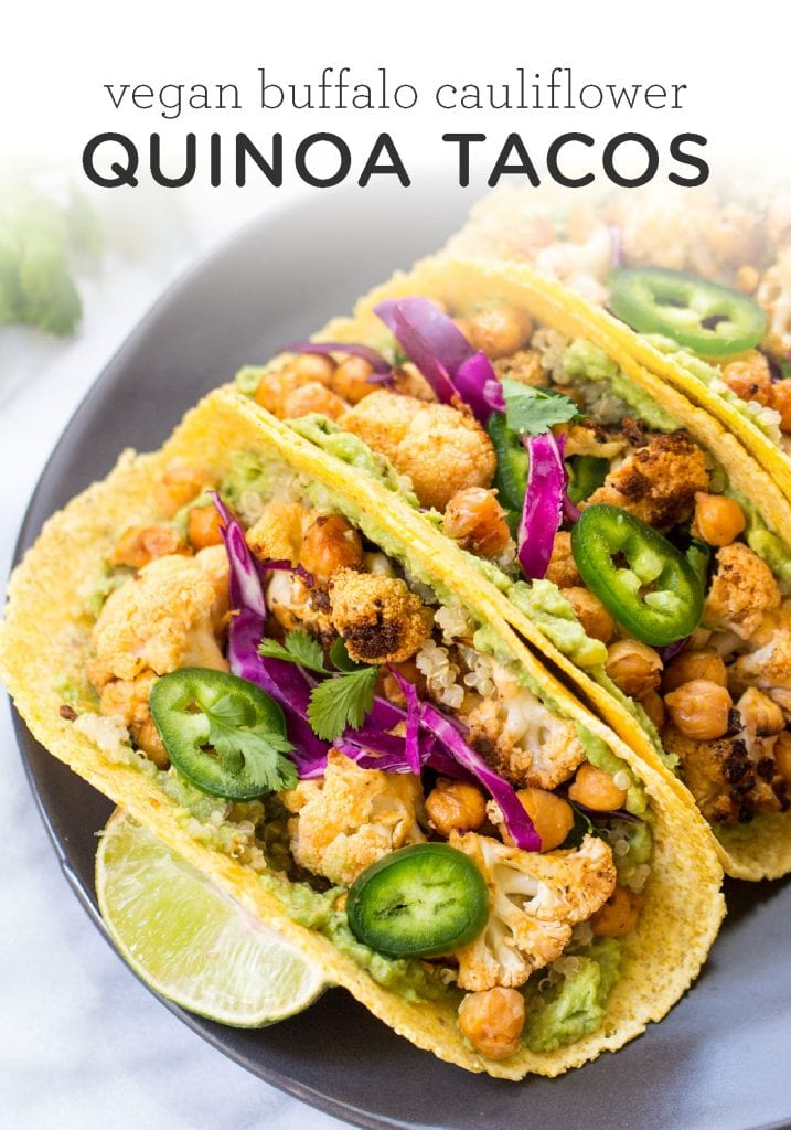 Buffalo Cauliflower & Quinoa Tacos