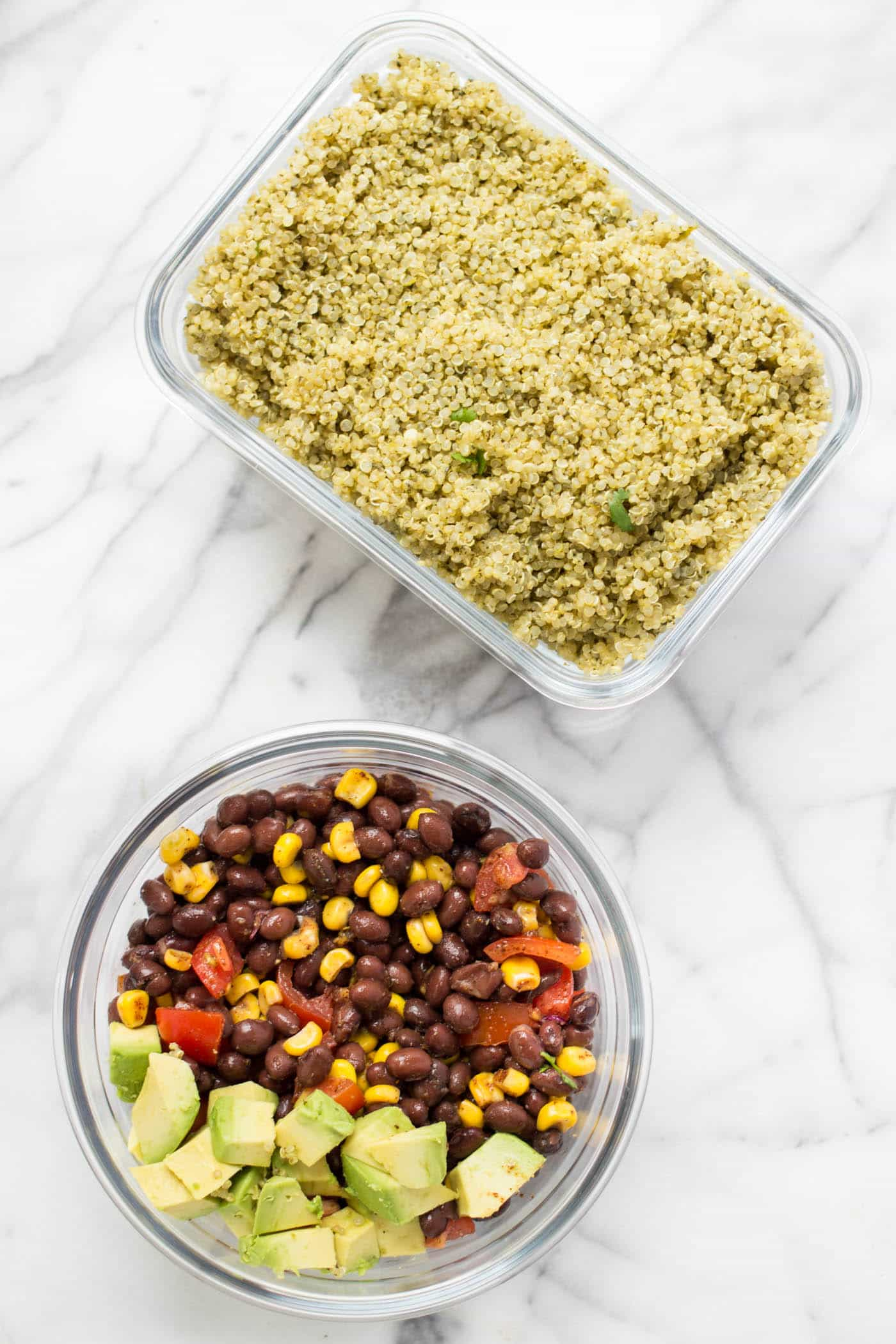 The perfect potluck salad >> Spicy Mexican Quinoa with a Simple Black Bean Salad