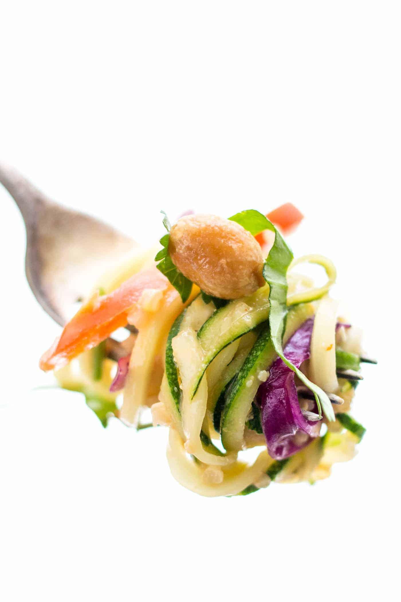 Pad Thai Zucchini Noodle Salad