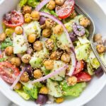 Vegan Chopped Salad with Spiced Chickpeas