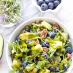 QUINOA POWER SALAD...with blueberries, arugula, pecans and avocado, all tossed in an amazing lemon-basil vinaigrette!
