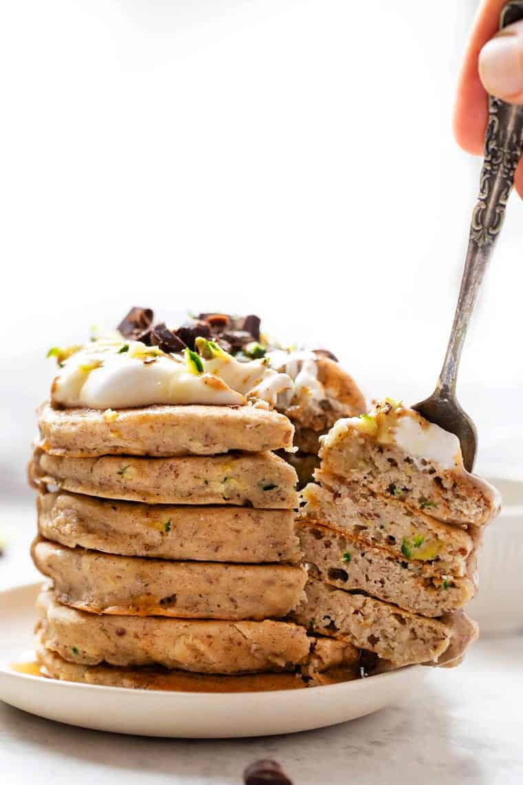 Fluffy Quinoa Pancakes with Zucchini