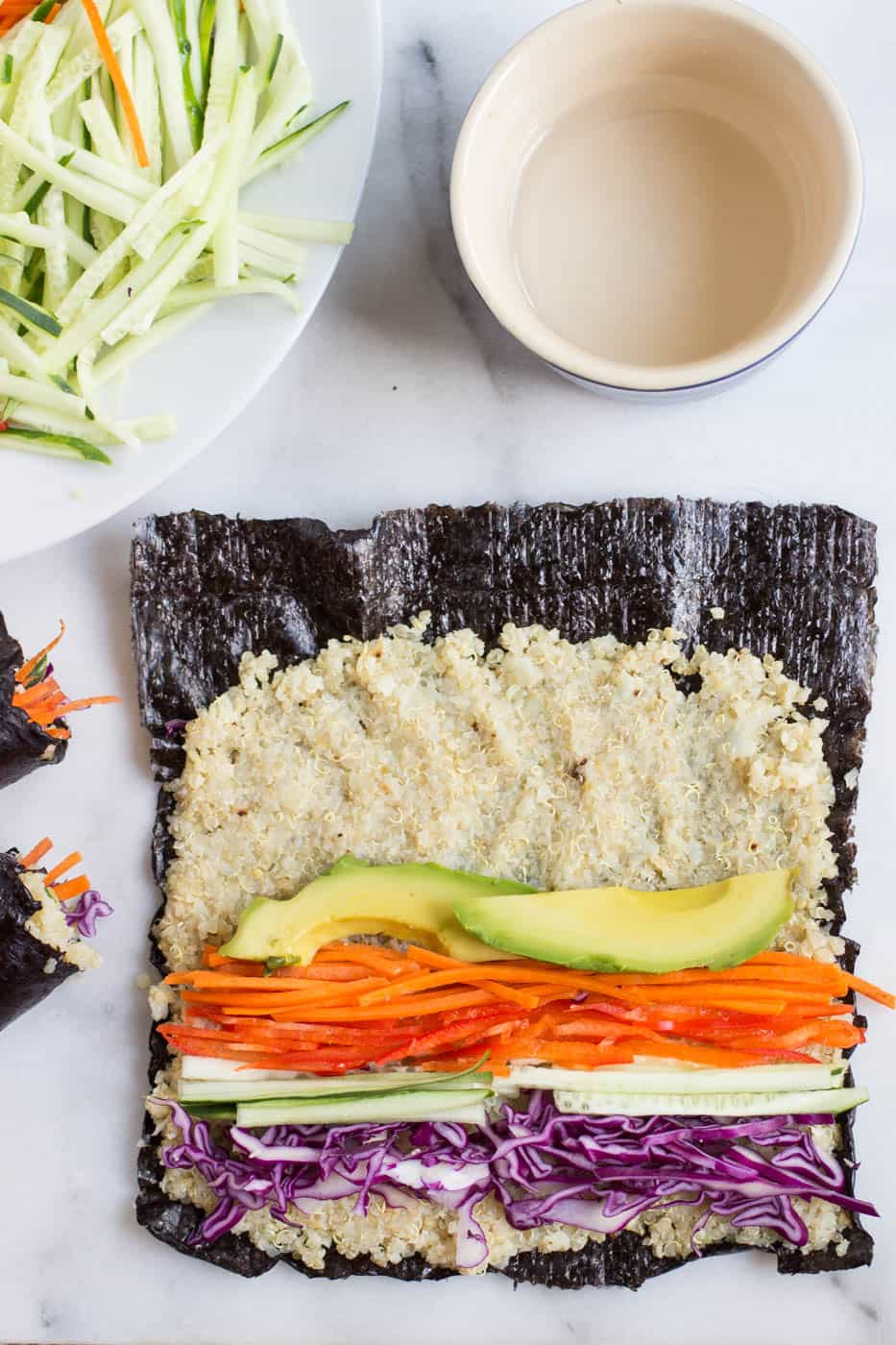 How to make quinoa sushi -- with a secret ingredient that makes it sticky and easy to roll!