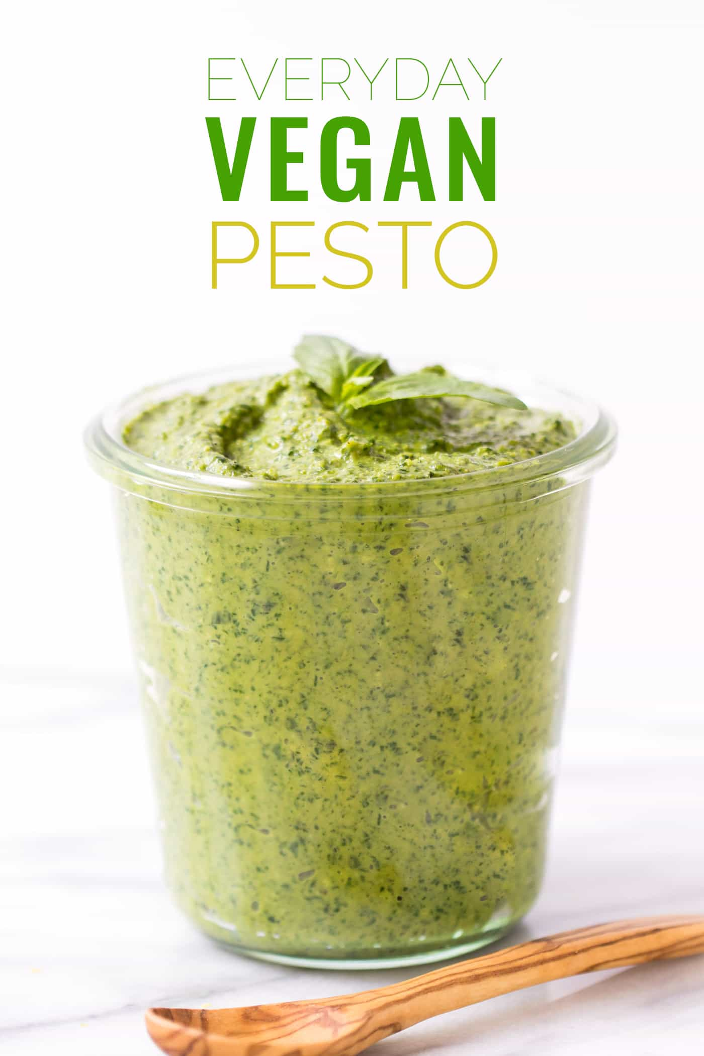 "The ULTIMATE vegan pesto recipe -- easy to make, healthy and tastes just like the ""real"" thing!"