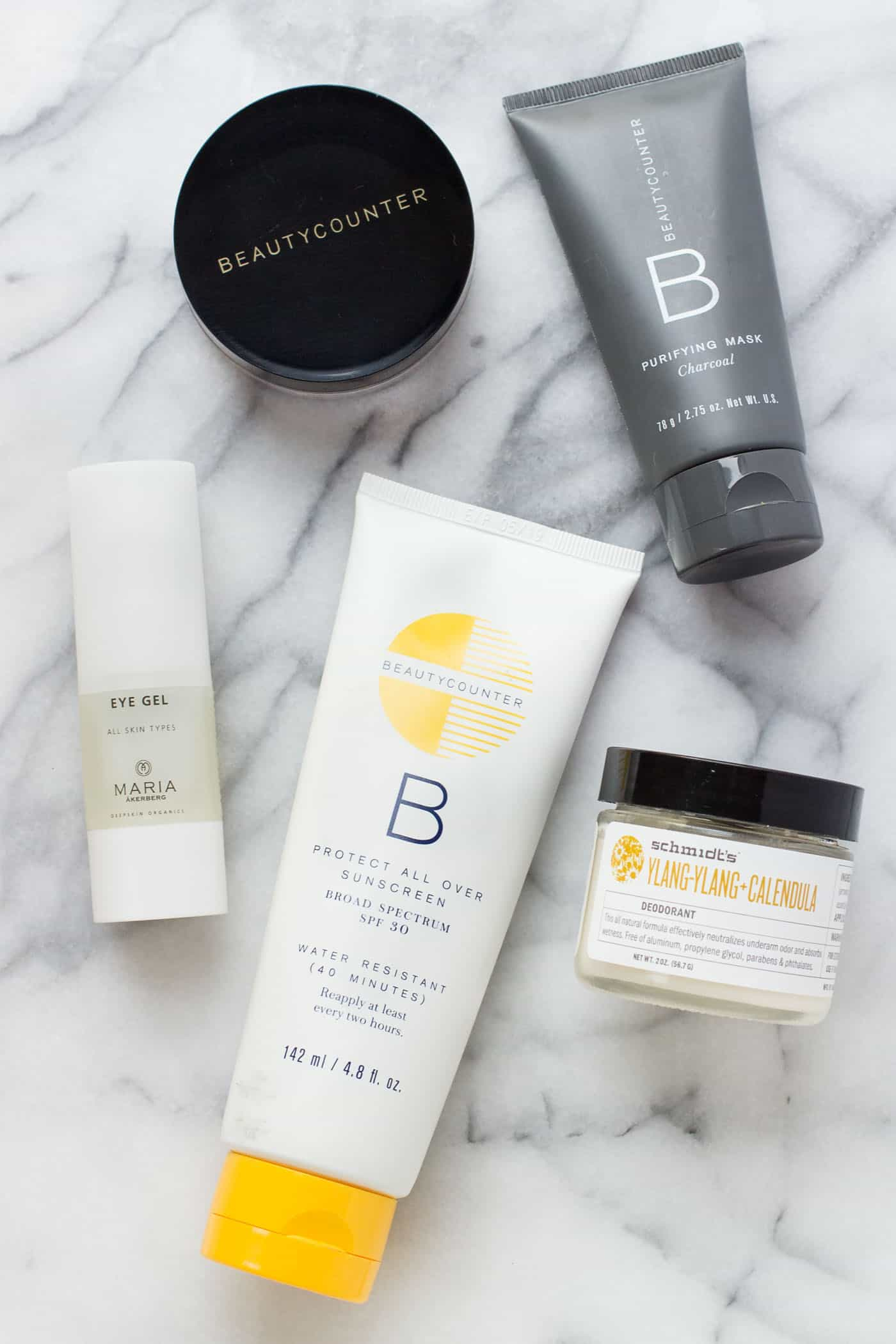 My favorite natural beauty products for the month including all natural deodorant, an eye gel and more!