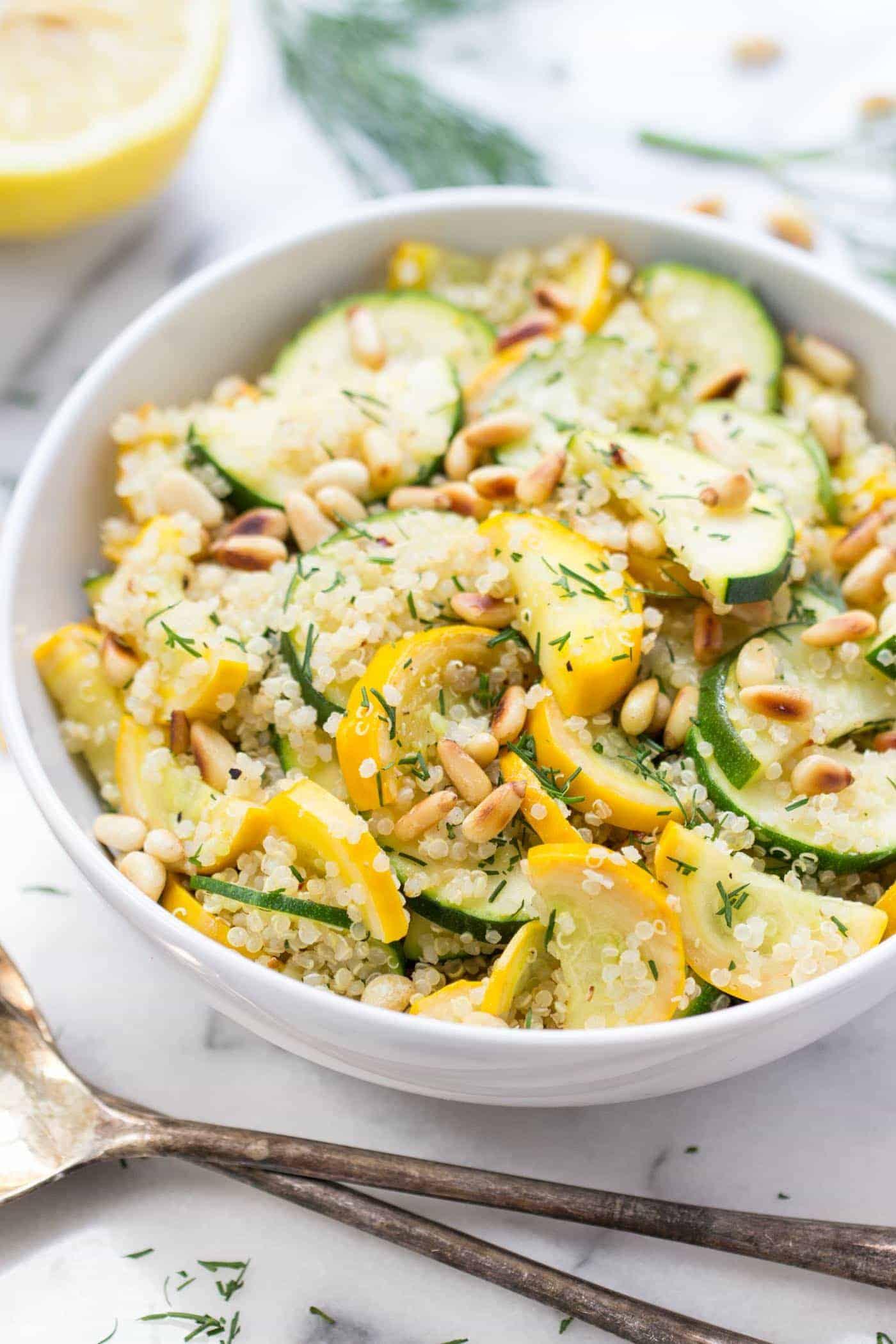 Summer Squash + Zucchini Quinoa Salad - Simply Quinoa
