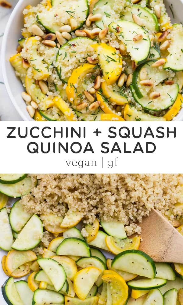 Summer Squash + Zucchini Quinoa Salad with Toasted Pine Nuts