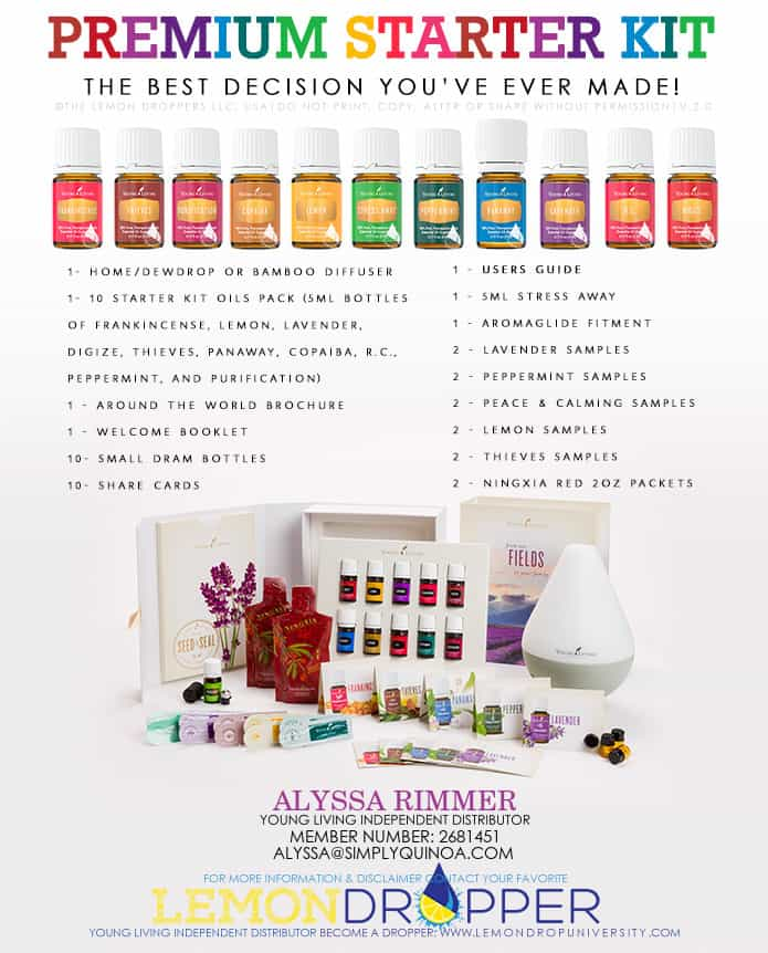 how to get started with essential oils -- the starter kit from Young Living