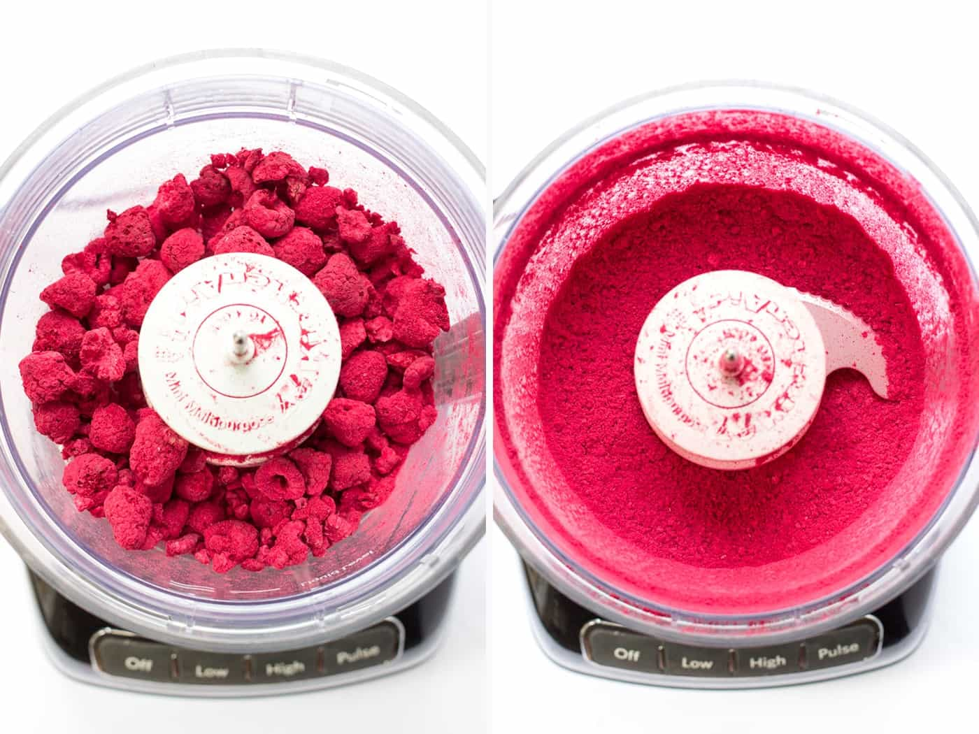 How to make raspberry powder using freeze dried raspberries!
